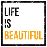 life is beautiful vector poster