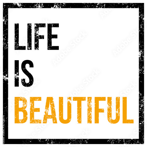 life is beautiful vector poster Poster