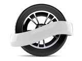 Car tire with blank ribbon