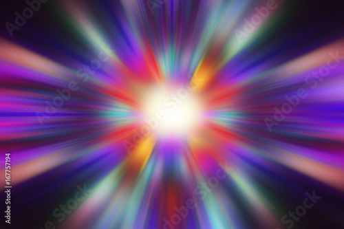 abstact purple, colorful light explosion effects background Poster