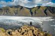 Aussicht von Sjonarnipa auf Skaftafellsjökull im Skaftafell Nationalpark