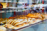 Chinese buns and pastries on display in London Chinatown - 167763528