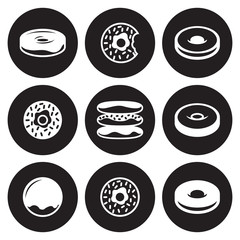 Donuts icons isolated