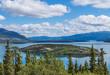 Bove island and Tagish Lake in Yukon, Canada