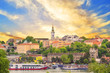 Leinwanddruck Bild - Beautiful view of the historic center of Belgrade on the banks of the Sava River, Serbia