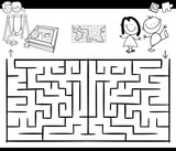 maze activity game with kids and playground