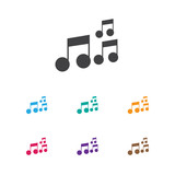 Vector Illustration Of Melody Symbol On Sound Note Icon. Premium Quality Isolated Tone Element In Trendy Flat Style. - 167790554
