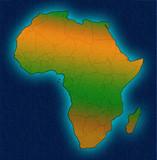Afryka kontynent konspektu afryka? Skich granic sylwetka ocean map? Koncepcji projektu.