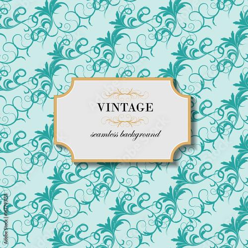 Tuinposter Abstract bloemen Vintage seamless background. Vector