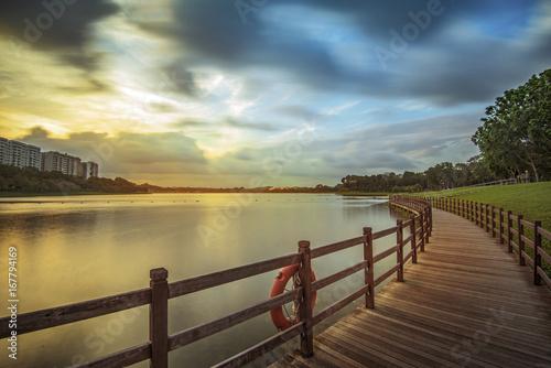 Foto op Aluminium Pier Sunset