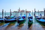 Turystów na ulicy wodnej z Gondola w Wenecji, W? Ochy