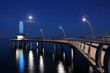 Brant St. Pier in Burlington, Canada at night