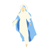 Vector illustration for Christian Community: Saint Mary the Virgin, or the Mother of God. Great as an illustration for The Assumption, The Nativity or the Birth of the Blessed Virgin Mary. - 167805371