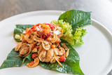 Crispy fish maw spicy salad - 167809381