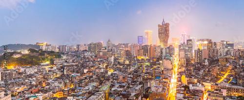 Foto op Canvas Panoramafoto s Macau cityscape