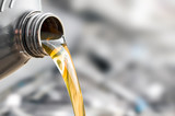 Motor oil pouring. - 167813363
