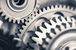 Leinwandbild Motiv engine gear wheels, industrial background