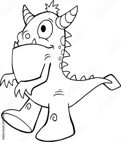 Papiers peints Cartoon draw Cute Monster Vector Illustration Art