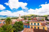 View of the city, Trinidad, Sancti Spiritus, Cuba. Copy space for text. Top view.