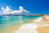 amazing beach on Naxos island, Cyclades, Greece