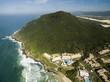 Quadro Aerial view Costao do santinho Beach in Florianopolis, Brazil. July, 2017.