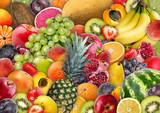 Food background - assorted juicy fruit