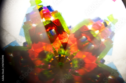Abstract Looking Into a Kaleidoscope Background Geometric Shapes - 167843998