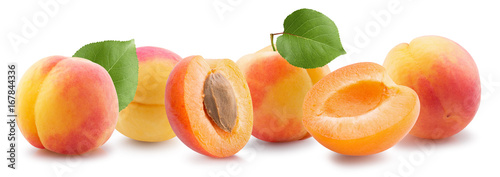 apricots isolated on a white background - 167844336
