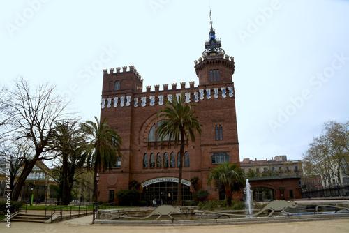 Barcelona, castle of the three dragons. Castell dels tres dragons parc de la ciutadella