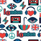 trendy british vector pattern - 167851505