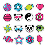 set of vector trendy patches - 167851521