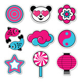 set of asiatic trendy patches - 167851583