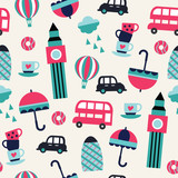seamless London geometric childish pattern