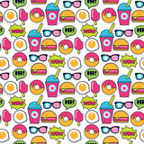 pop art american fastfood pattern - 167854962