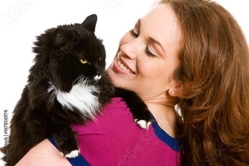 Veterinarian: Woman Holding Pet Cat