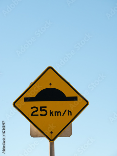 Poster 25 Km Per hour Speed Sign