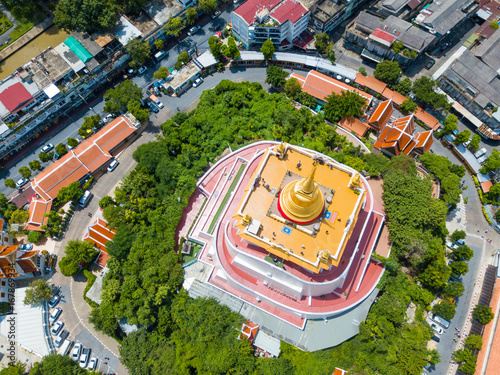 The golden mount in Wat Saket temple