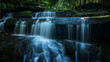 Wonderful waterfall, Located Loei Province, Thailand - 167873173