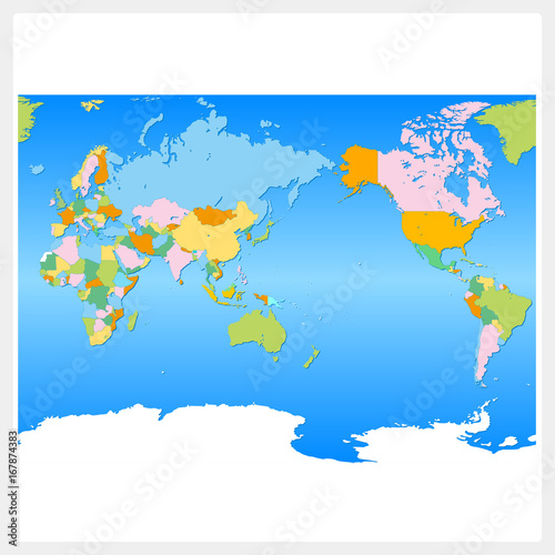 Foto op Aluminium Wereldkaarten 世界・世界地図・World map