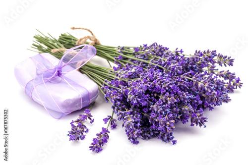 Fotobehang Lavendel Lavander and soap