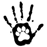 dog pet animal paw care logo template, vector illustration concept for animal business services - 167879393