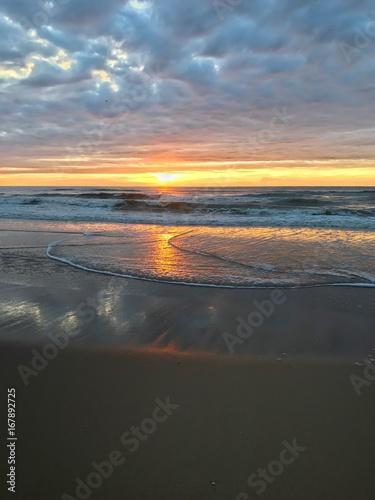 Urlaub am Meer Sonnenuntergang