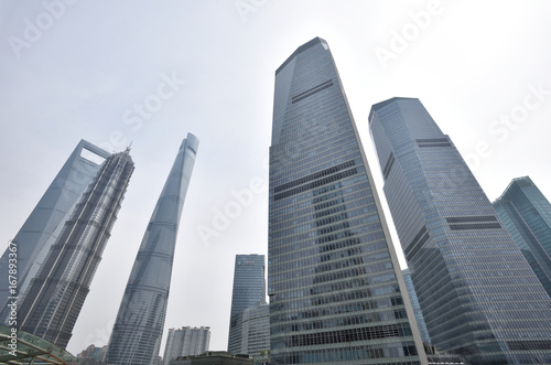 The cityscape in the Lujiazui CBD,Shanghai,China.