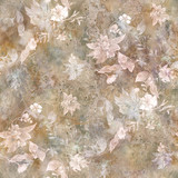 Watercolor painting of leaf and flowers, seamless pattern - 167902738