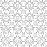 Vector abstract seamless snowflake pattern white and gray color
