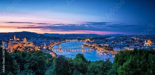Sunset over Budapest