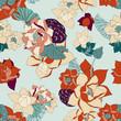 Botanical Seamless Lotus Pattern - 167914990