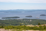 View towards ar Harbor from Cadillac Mountain in Acadia National Park