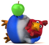 Fun chicken - 3D Illustration - 167916132