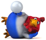 Fun chicken - 3D Illustration - 167916135